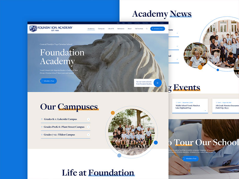 Foundation Academy Website