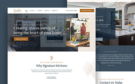Signature Kitchens Custom Website