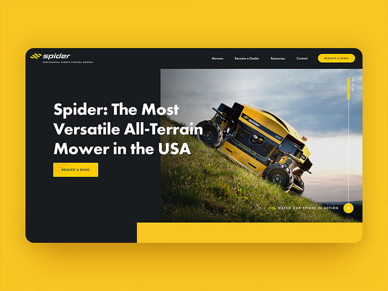 Spider Mower USA website design
