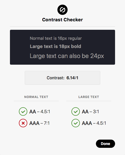 Stark contrast checker in Sketch