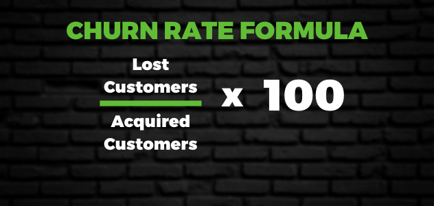 Calculating Churn Rate formula