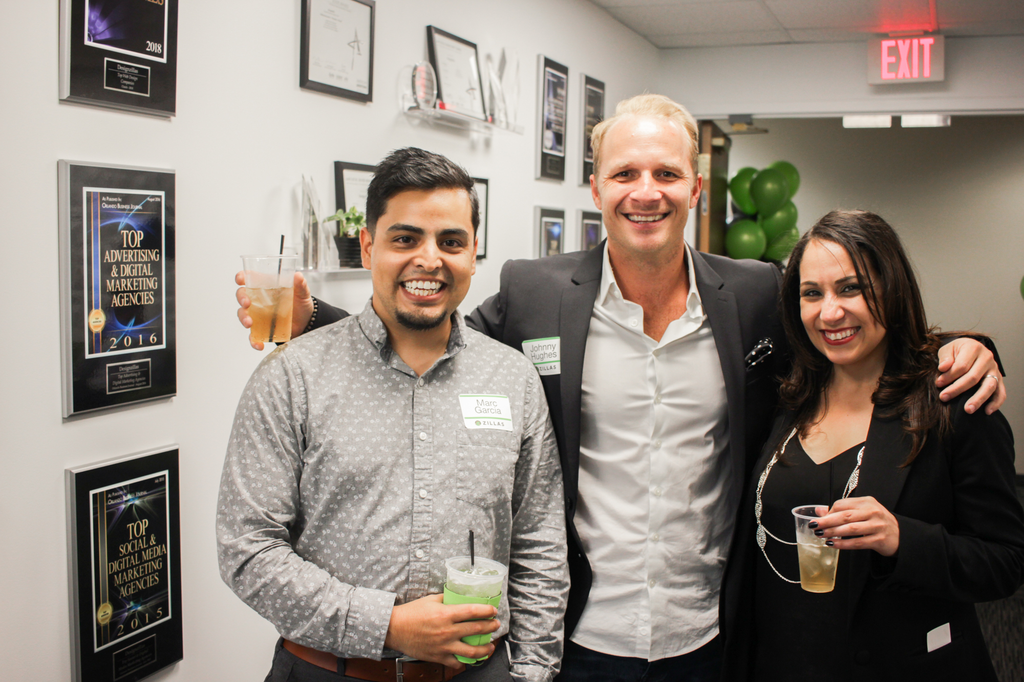 Designzillas – Marc, Johnny and Lisette at Ribbon-Cutting Ceremony