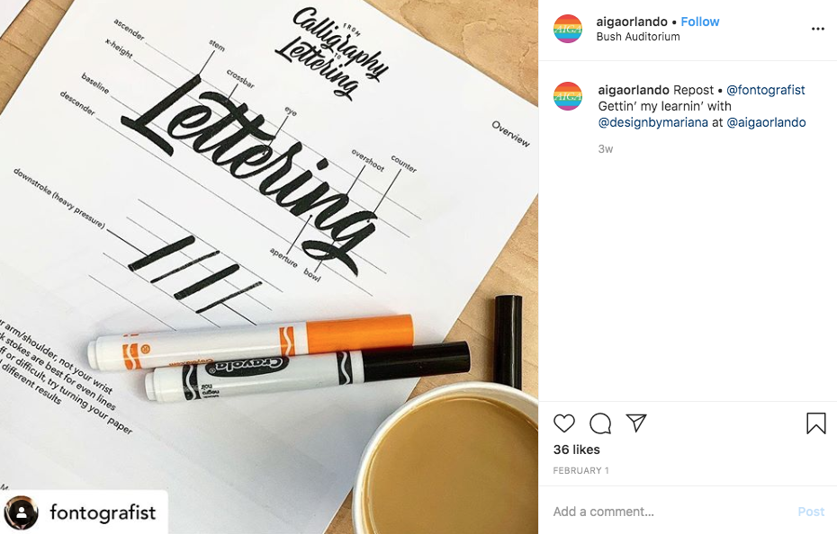 Mariana Martinez lettering workshop
