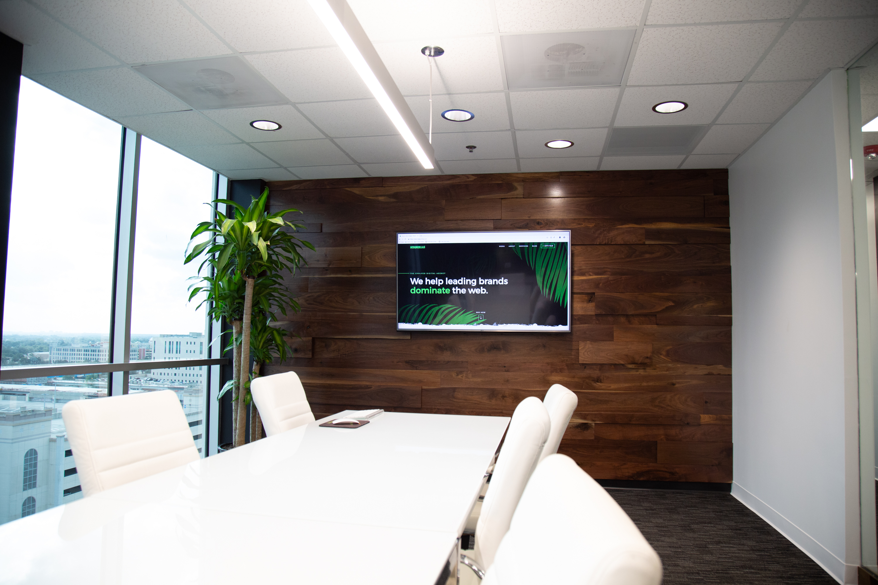Designzillas Conference Room Wooden Wall