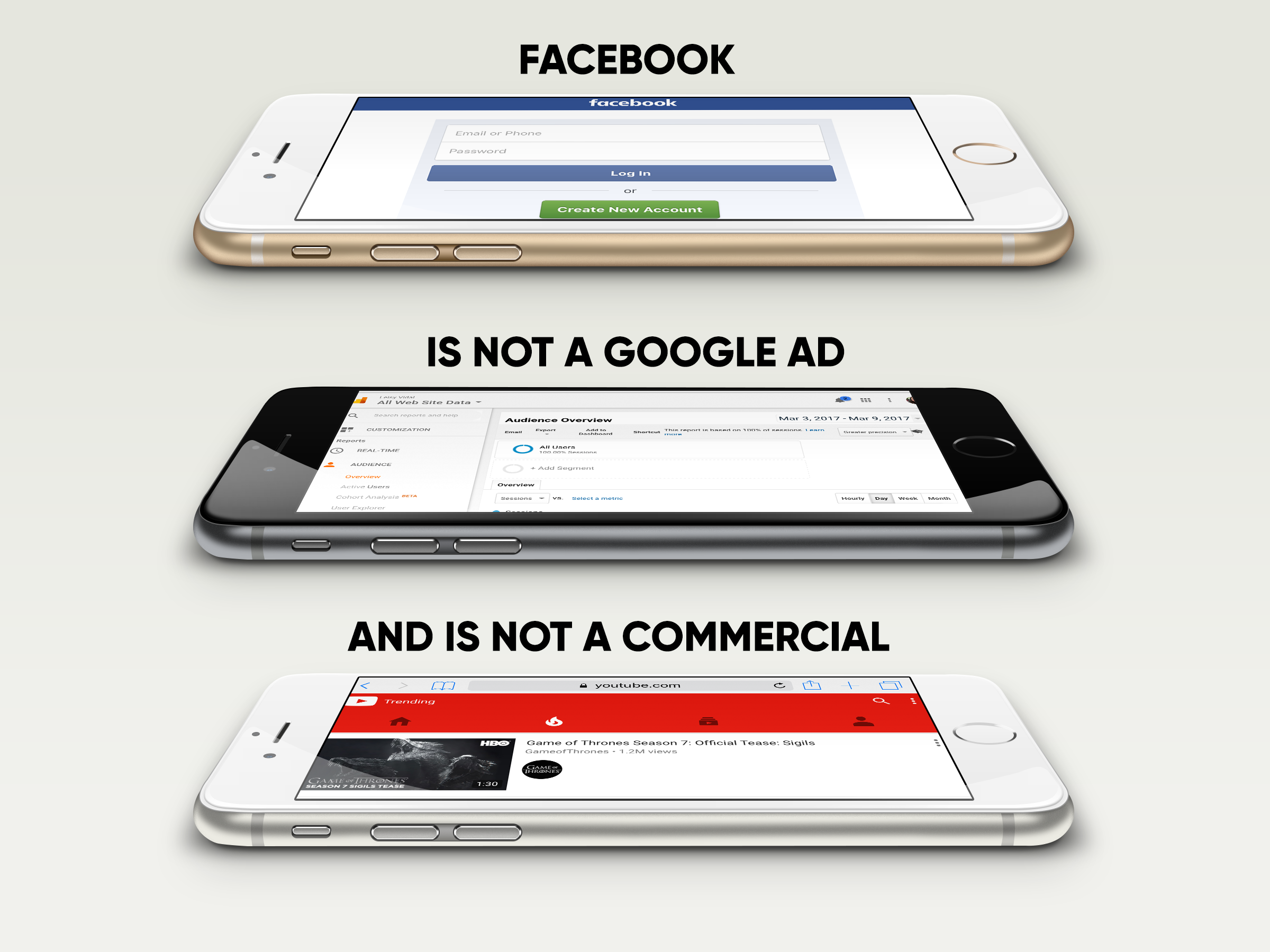 Facebook Is Not a Google Ad or Commercial