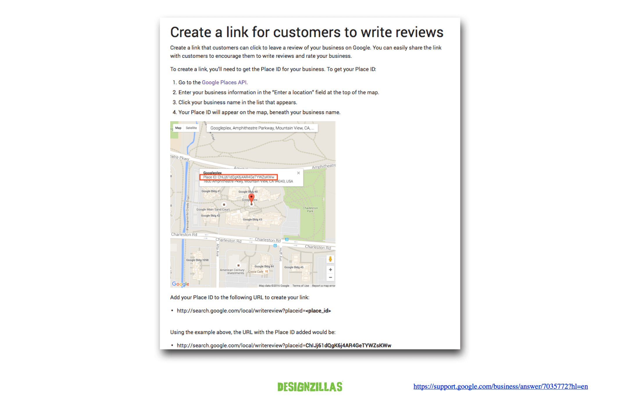Create a Link to Google Review